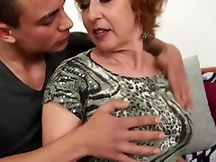 Fantastic Czech grandma nails young lucky boy