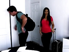 Hot step-mother fucks her son