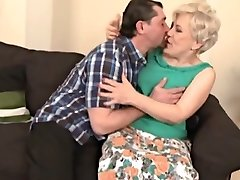 Horny granny sucks and plumbs