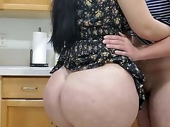 Hot Mom Humping in kitchen