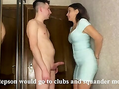 Greatest sex of a stepmom and stepson while her spouse earns money on a business trip