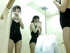 Super-steamy view of changing room girl tiny tits and beaver