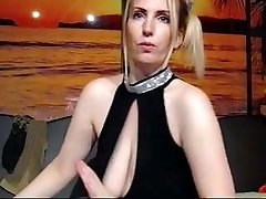 Insane Ann jiggles her floppy melons at the camera