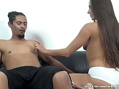 Mea Melone takes a black cock deep in her cooter