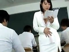 Busty Japan milf sauna lady in uniform hand job lesson
