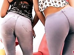 Ginormous-ASS & Cameltoe In Jeans. The Denim Gfs!