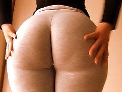 Incredible Ample Booty Teenage! Cameltoe Too! Oh Mama!!