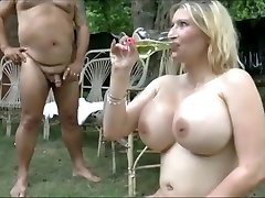 Huge boobs girls swallow  lot of urinate