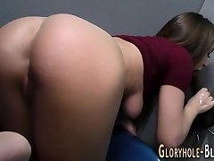 Teenager milks bbc for cum
