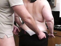 Husband caught cheating with fat mega-slut