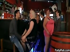 Fat damsels have fun at the party