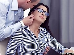 Active busty hotty in glasses Chanel Lux gets disturbed with super hot analfuck