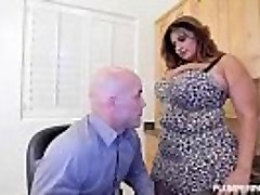 Big-chested Latina Cougar Sofia Rose Fucks Her CoWorker Derrick