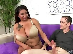 Obese Danny Lynn Shows Off Her Good-sized Tits and Gets Her Pussy Drilled