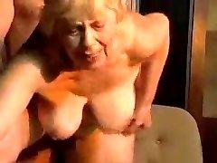 Blonde obese grandma.