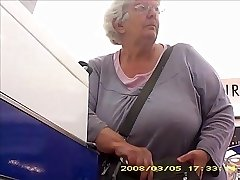 Granny with big butt collar boobs