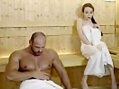 RELAXXXED - Hard plow at the sauna with infatuating Russian honey Angel Rush
