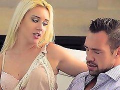 Brooke Underhill enjoying sucking on a huge stiffy
