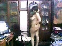 Curvy Arab Woman Teasing Her Hefty Body