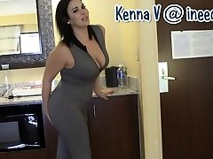 New Kenna V. wetting her panties and latex