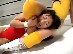Japanese nymphs wrestling