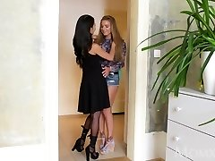 MOM Horny massive tits Thai MILF gives young Russian teen ultra-cutie
