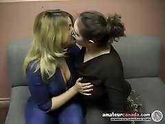 Lush dweeb femdom uses strapon with kissing ditzy bbw