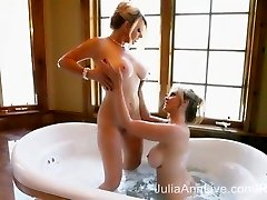 2 Very Wet Milfs! Julia Ann & Vicky Vette