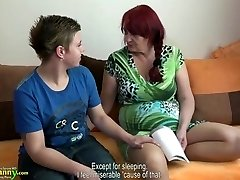 OldNanny Lesbo granny and teenage with huge di