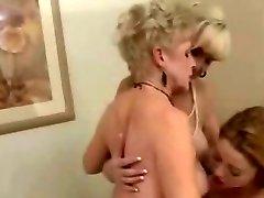 2 Mature Ladies & 1 Tight Lesbos