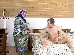 FAT Plus-size Grandmother MAID FUCKED HARDLY IN THE ROOM