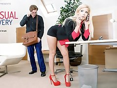 Candee Licious in Voluptuous Delivery - OfficeObsession