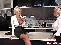 Puma Swede & Bobbi are the Lesbo Office Fuckslut!
