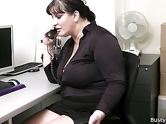 Office sex with buxomy ladies at work