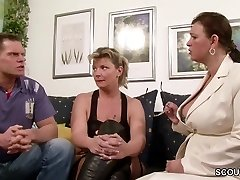 German Big Tit Milf Teach Couple to Have more Fun at Hookup