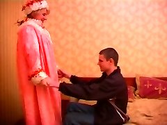 Mature plump russian lady in stockings & a youthfull man