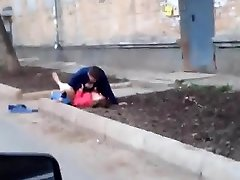 Russian amateurs pulverizing outdoor
