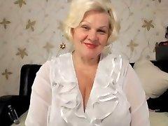 Blond granny big tits