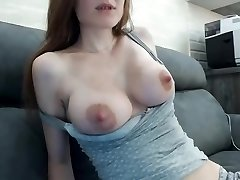 Beautiful multiorgasmic dame with perfect all-natural boobs