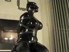 Latex restrain bondage orgasm