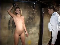 Young lesbian with tiny titties loves to have fun bdsm dungeon games with dominatrix