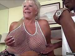 72 year old Grandma Hungers Big Ebony Cock