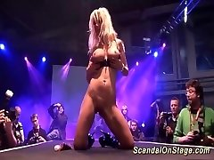 limber MILF on show stage