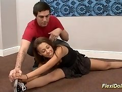 cute flexi contortion real female