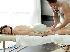 Big tit Russian female gets a voluptuous massage