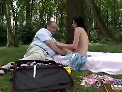 OLD YOUNG Romantic Sex Between Fat Old Man and Mind-blowing Teen Damsel