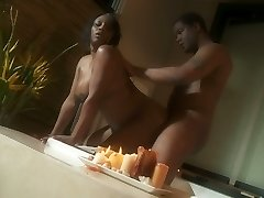 Plump ebony lady Jada Fire romantic sex episode in Jacuzzi