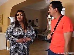 Buxomy Fat Asian Model Gets Massage from Brazilian