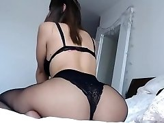 Curvey brunette big ass and funbags in sexy lingerie