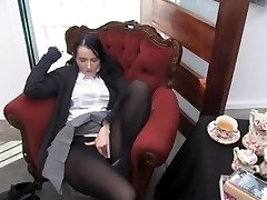 Youporn Female Director Series: Big Hooter geek girl in tights cums